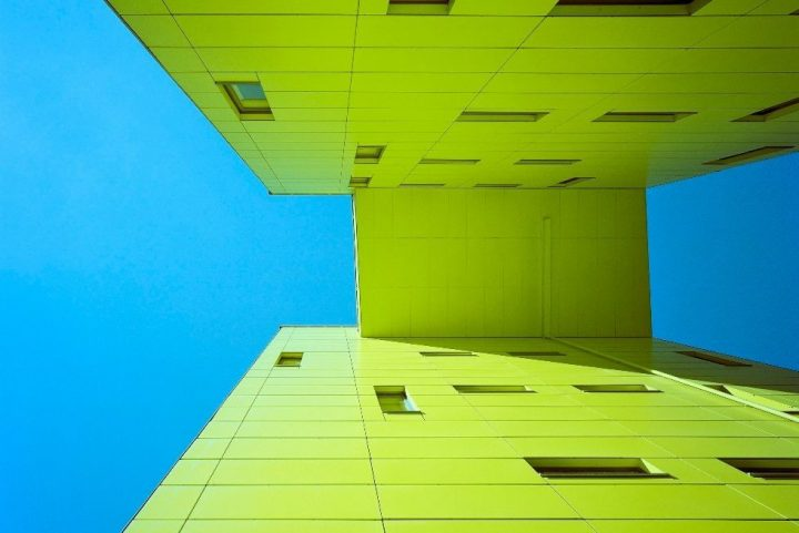 Colourful details give structure to the housing block, Pasilan Konepaja Housing