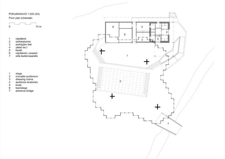 Floor plan, Hupisaaret Cultural Venue