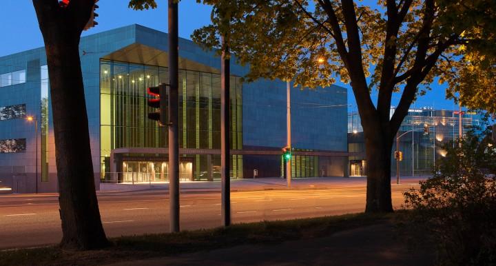 Main entrance on Mannerheimintie street., Helsinki Music Centre