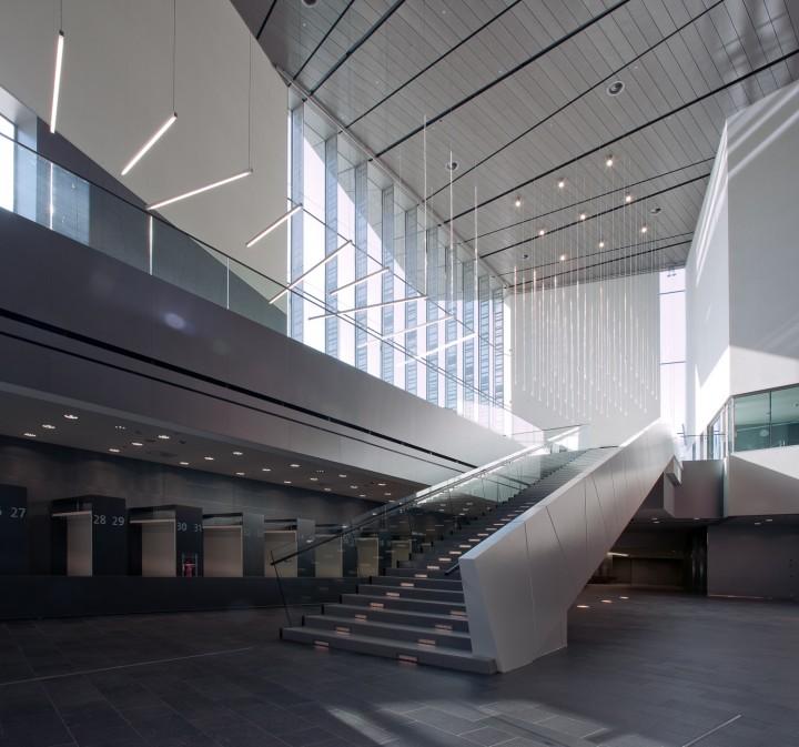 Entrance lobby., Helsinki Music Centre