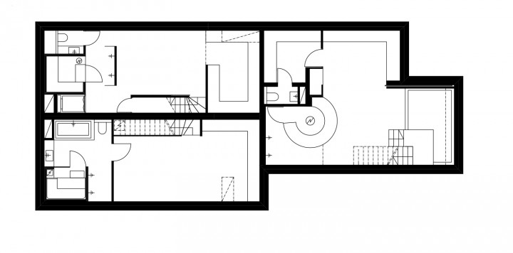 Floor plan, Three Infill Apartments
