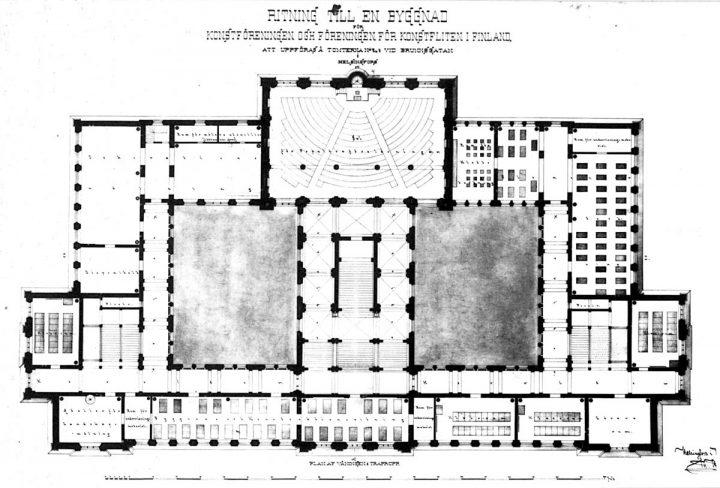 1st floor plan, Ateneum Art Museum