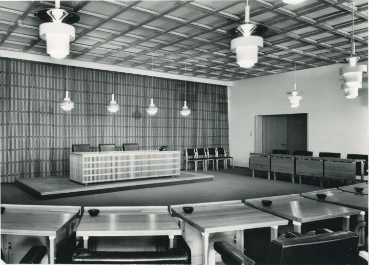 Conference room in 1957, National Pensions Institute