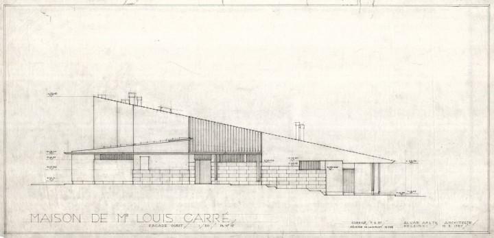 North elevation, Maison Louis Carré