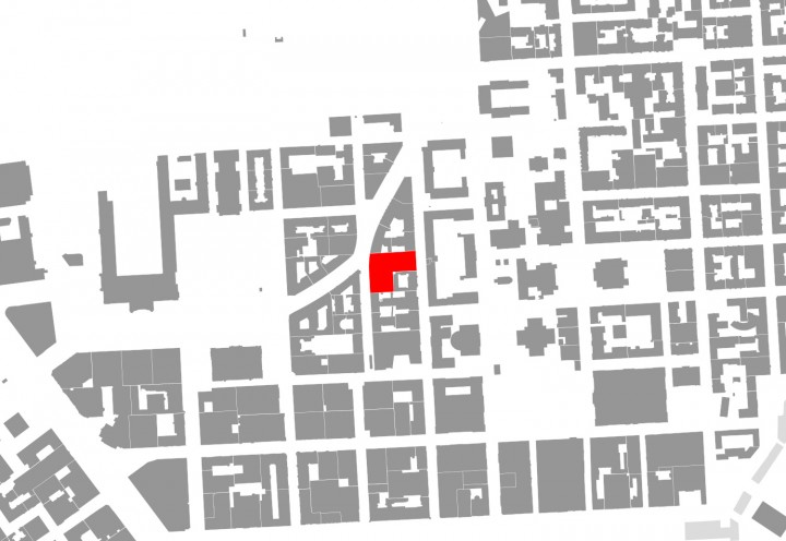 Situation in the urban structure, Helsinki University Main Library Kaisa