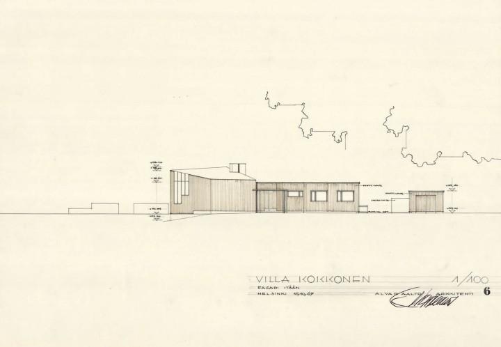 East elevation, Villa Kokkonen