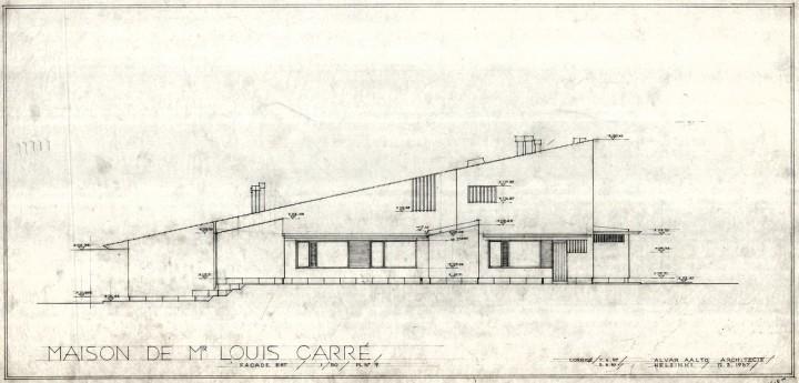 South elevation, Maison Louis Carré