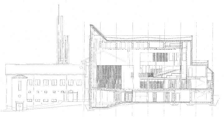 Section sketch, Church of the Good Shepherd
