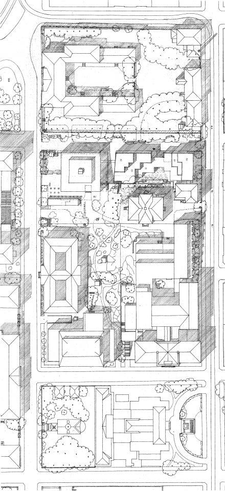 Site plan, Swedish School of Social Science, University of Helsinki