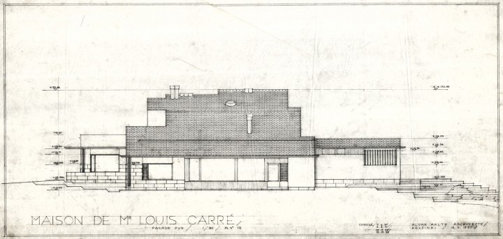 West elevation, Maison Louis Carré