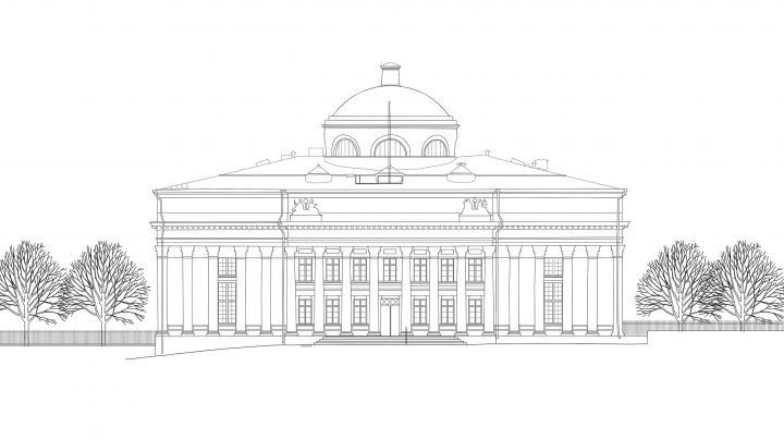 East elevation, National Library of Finland