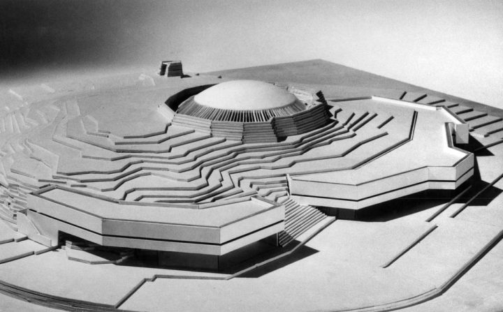 Scale model, Temppeliaukio Church (Rock Church)