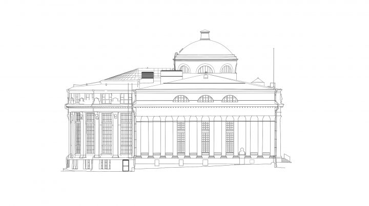 South elevation, National Library of Finland