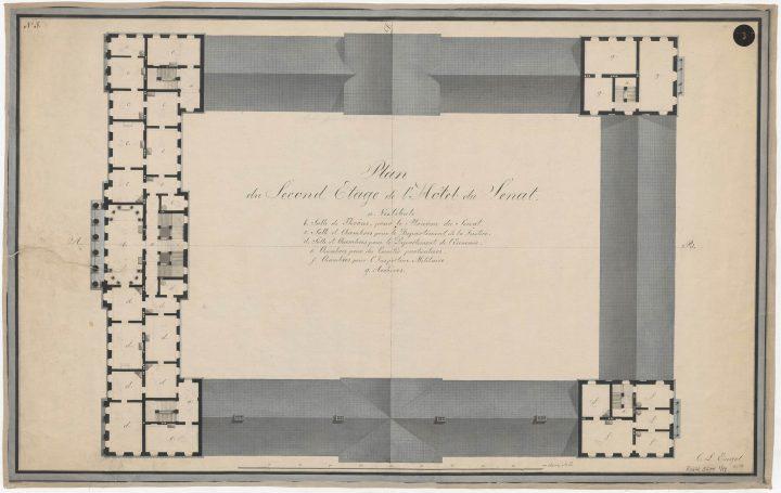 2nd floor plan, Senate Palace