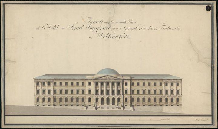 West elevation, Senate Palace