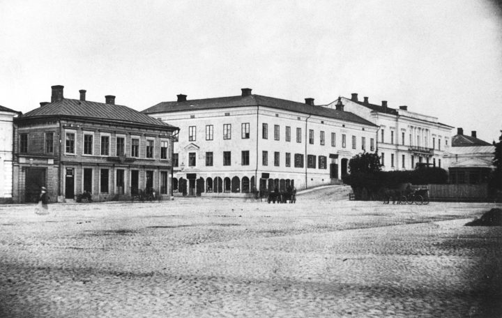 1870s view from the Market Square, Government Banquet Hall Smolna