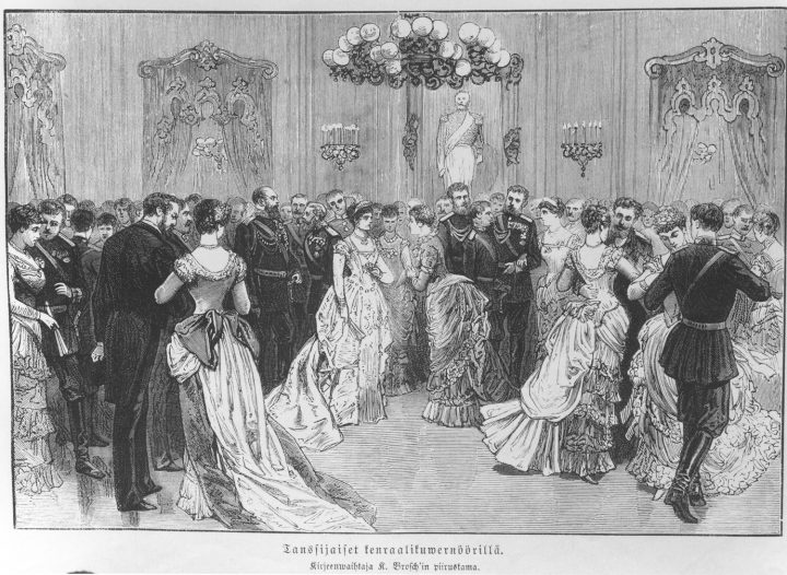 A ball in 1885 honouring the visit of Emperor Alexander III, Government Banquet Hall Smolna