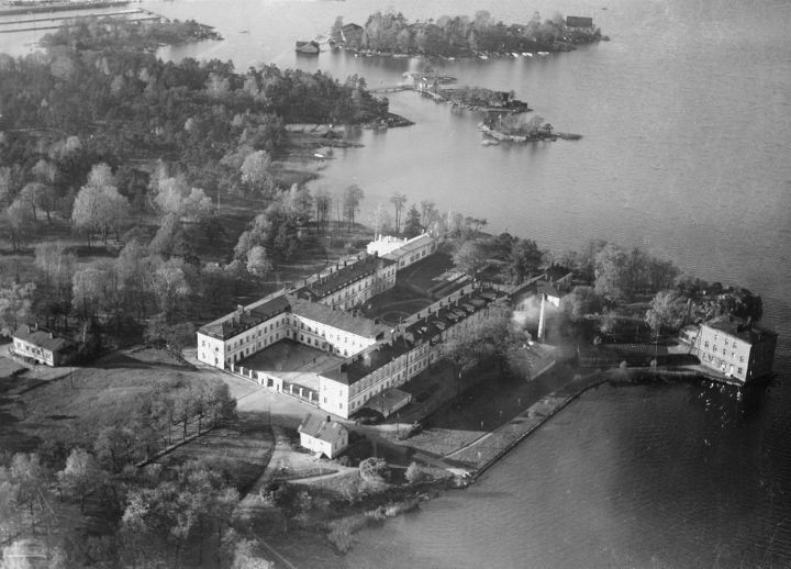 Aerial view in the 1930s, Lapinlahti Hospital