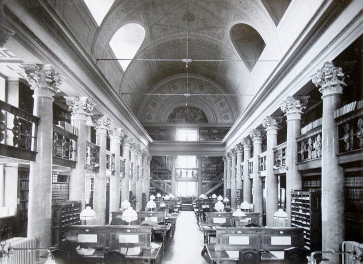 Northern hall in the 1930s, National Library of Finland