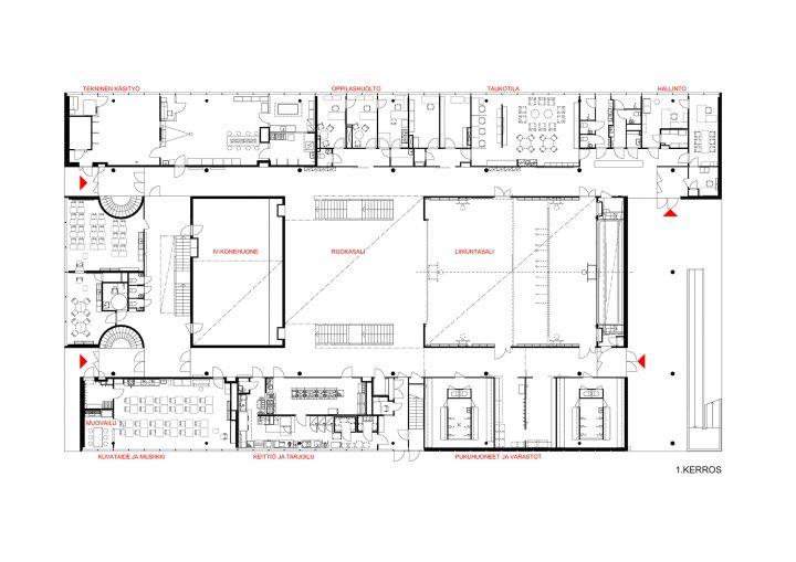 Ground floor, Roihuvuori School