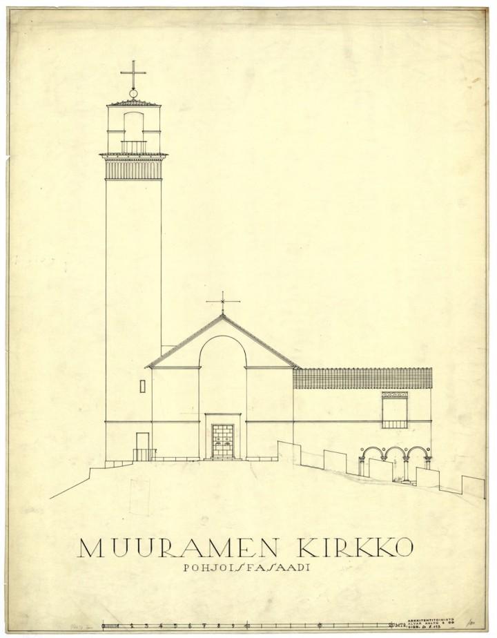 North elevation, Muurame Church