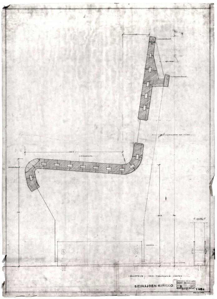Pew detail, Cross of the Plains Church (Lakeuden risti)