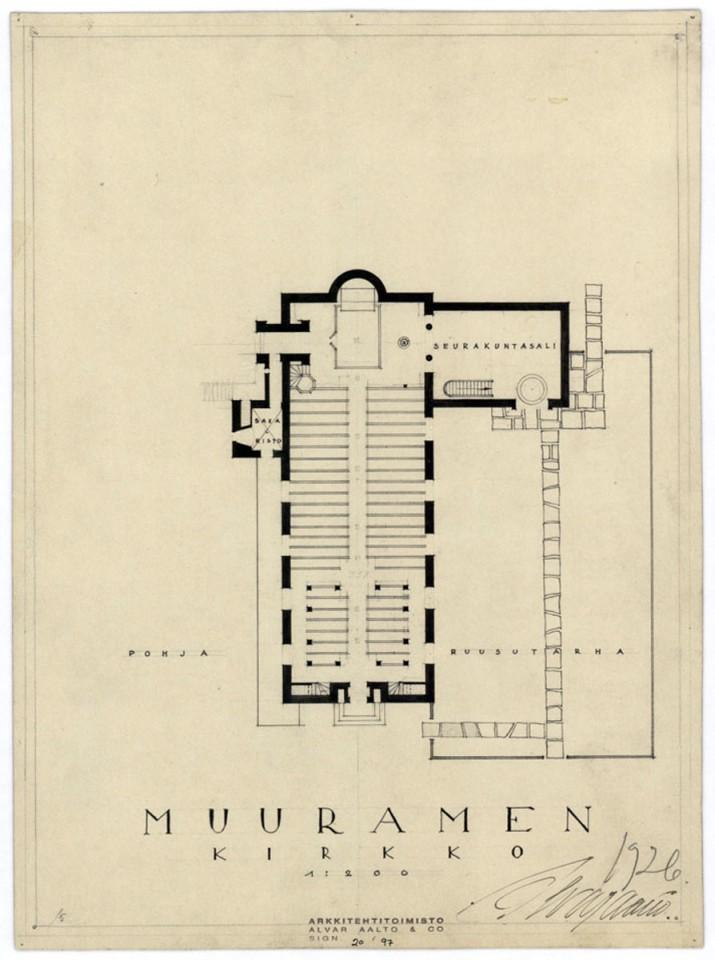 Floor plan, Muurame Church