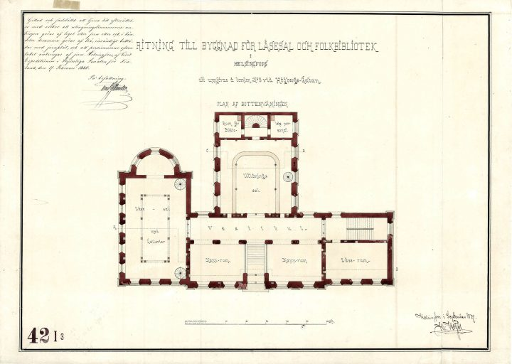 Ground floor, Rikhardinkatu Library