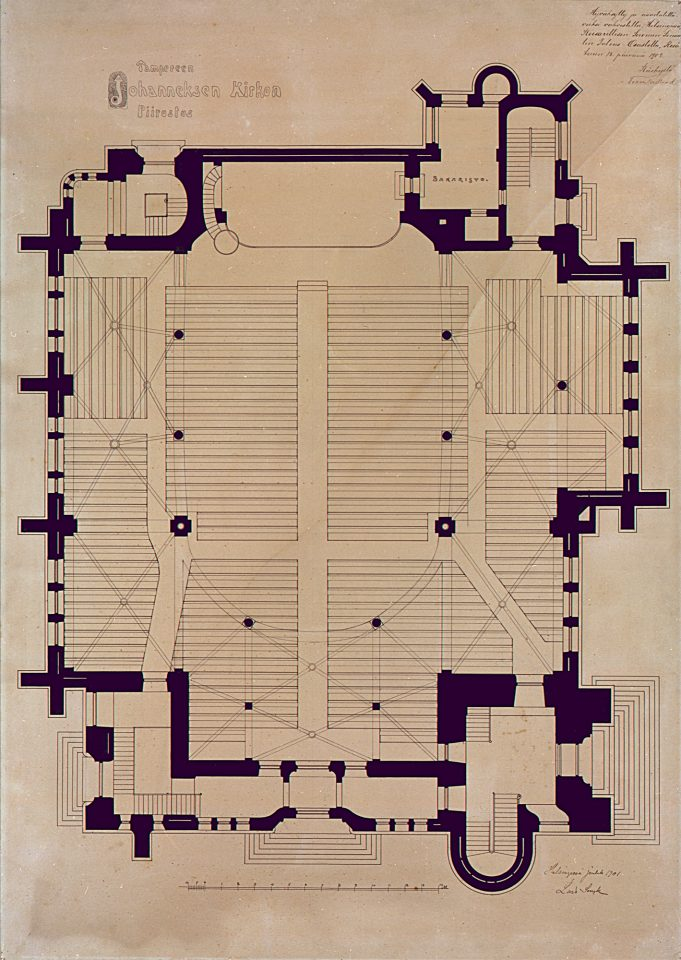 Floor plan, Tampere Cathedral