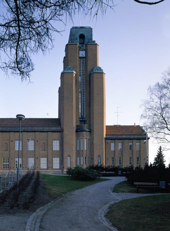 Main façade , Lahti Town Hall