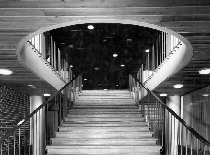 Main staircase, 1950s, Hotel Palace