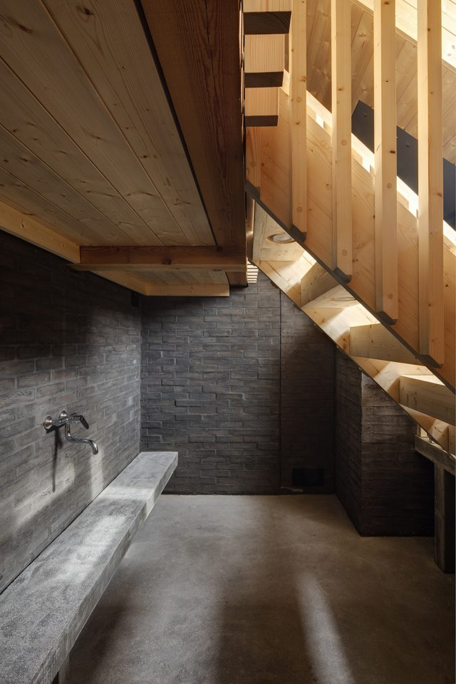 Wash area, Lonna Sauna