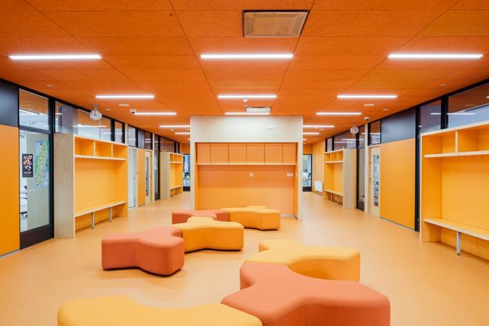 Corridor of the orange section, Heart of Nikkilä