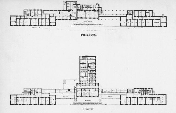 Floor plan, Takaharju Sanatorium