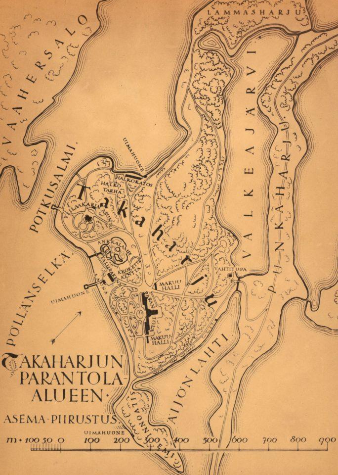 Site plan, Takaharju Sanatorium