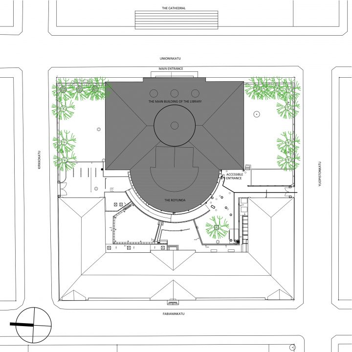 Site plan, National Library of Finland