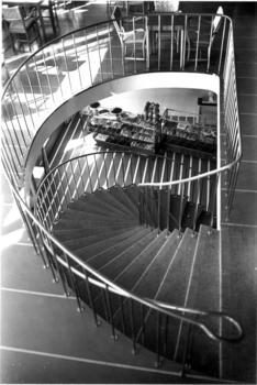 The Lehtinen baker's shop and staircase leading to the café, Sampo House
