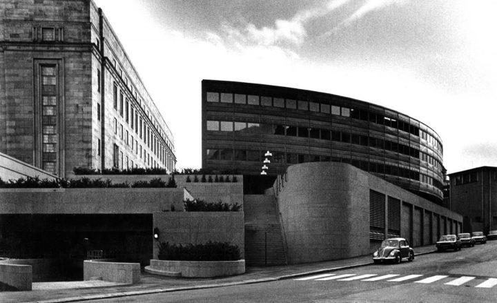 Extension by Ola Laiho, Pekka Pitkänen and Ilpo Raunio, 1978, Parliament House