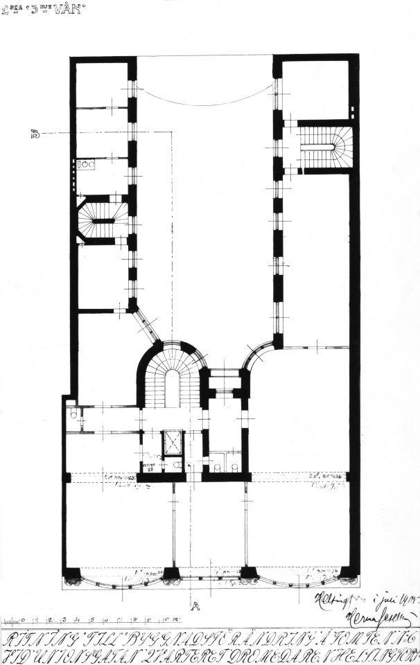 Floor plan of the second and third floors, Wuorio Commercial Building