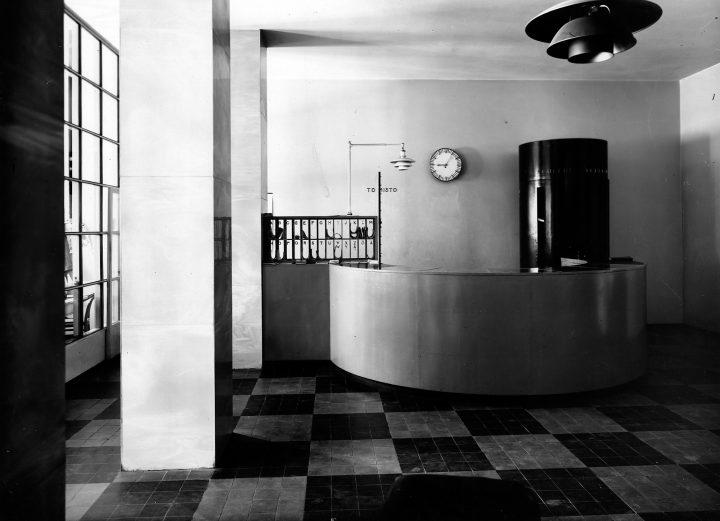 Original hotel reception desk, Hospitz Betel