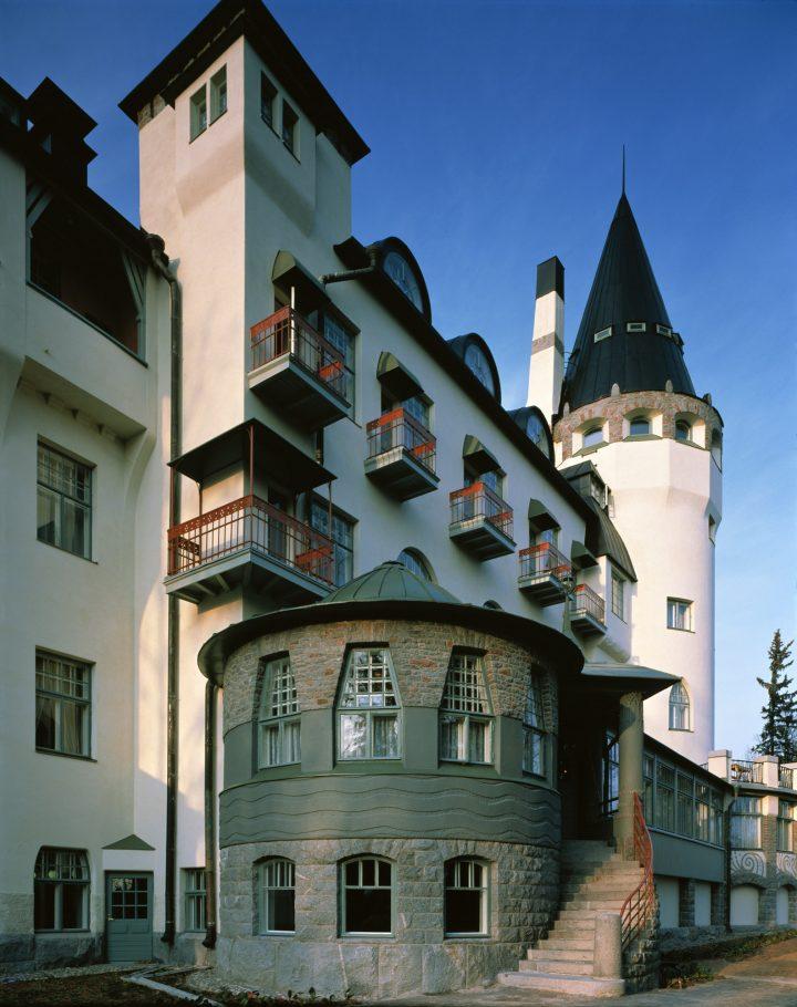 Southeast façade, The State Hotel