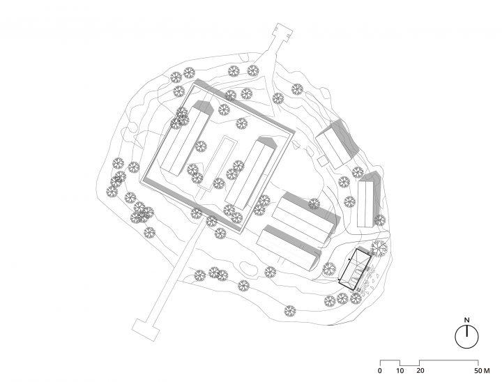 Site plan, Lonna Sauna