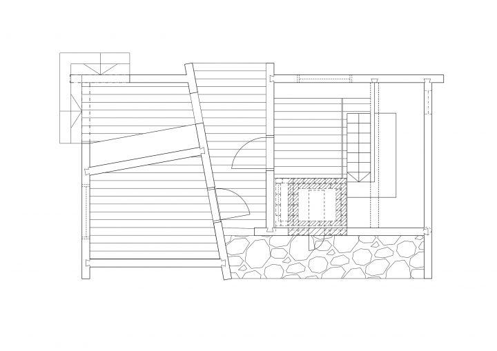 Floor plan, Smoke Sauna in Asikkala