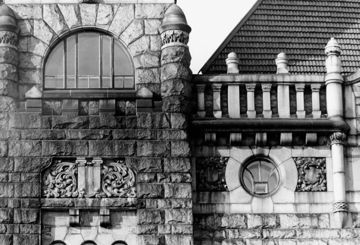 Façade detail, photo from the 1980s, Finnish National Theatre