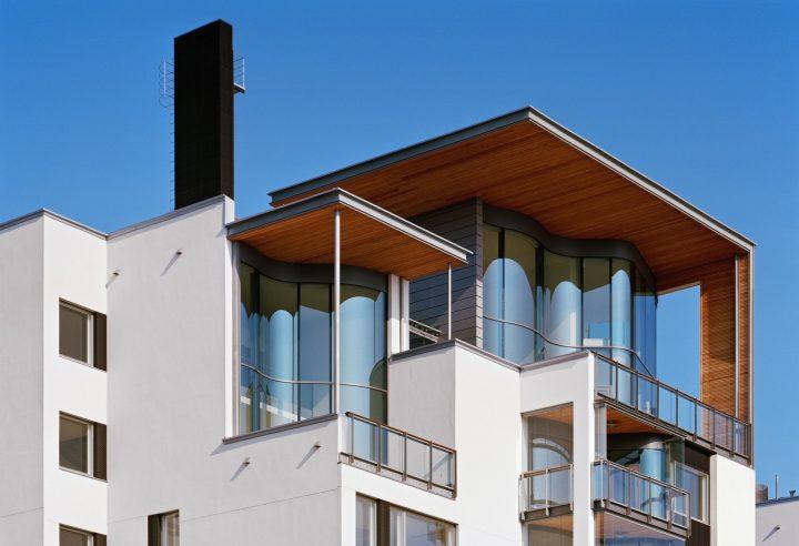 Elevation towards the sea, Eiranranta Housing