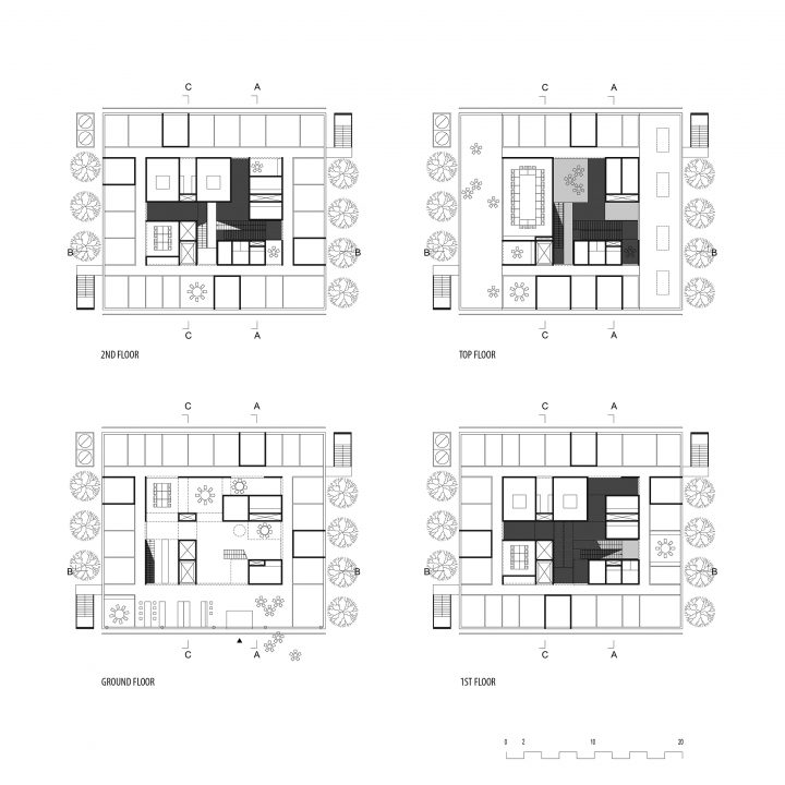 Floor plans, Centre for Systems Biology Dresden