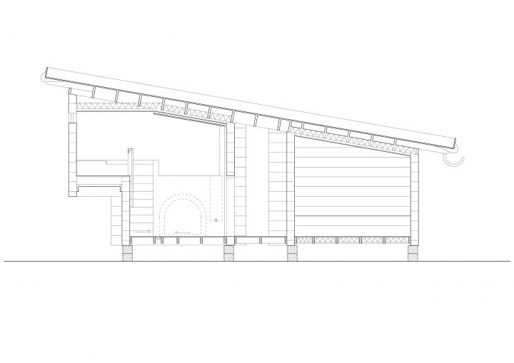 Section, Smoke Sauna in Asikkala