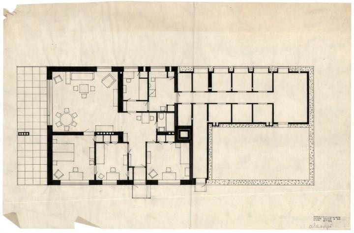 Alvar Aalto: 3. floor plan, Terraced House