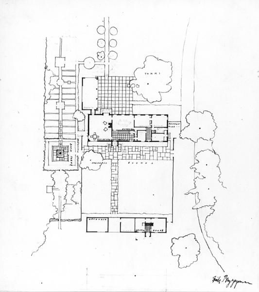 Site plan, Villa Solin