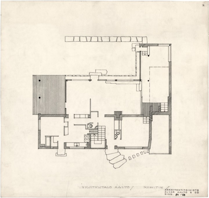 Ground floor plan, The Aalto House
